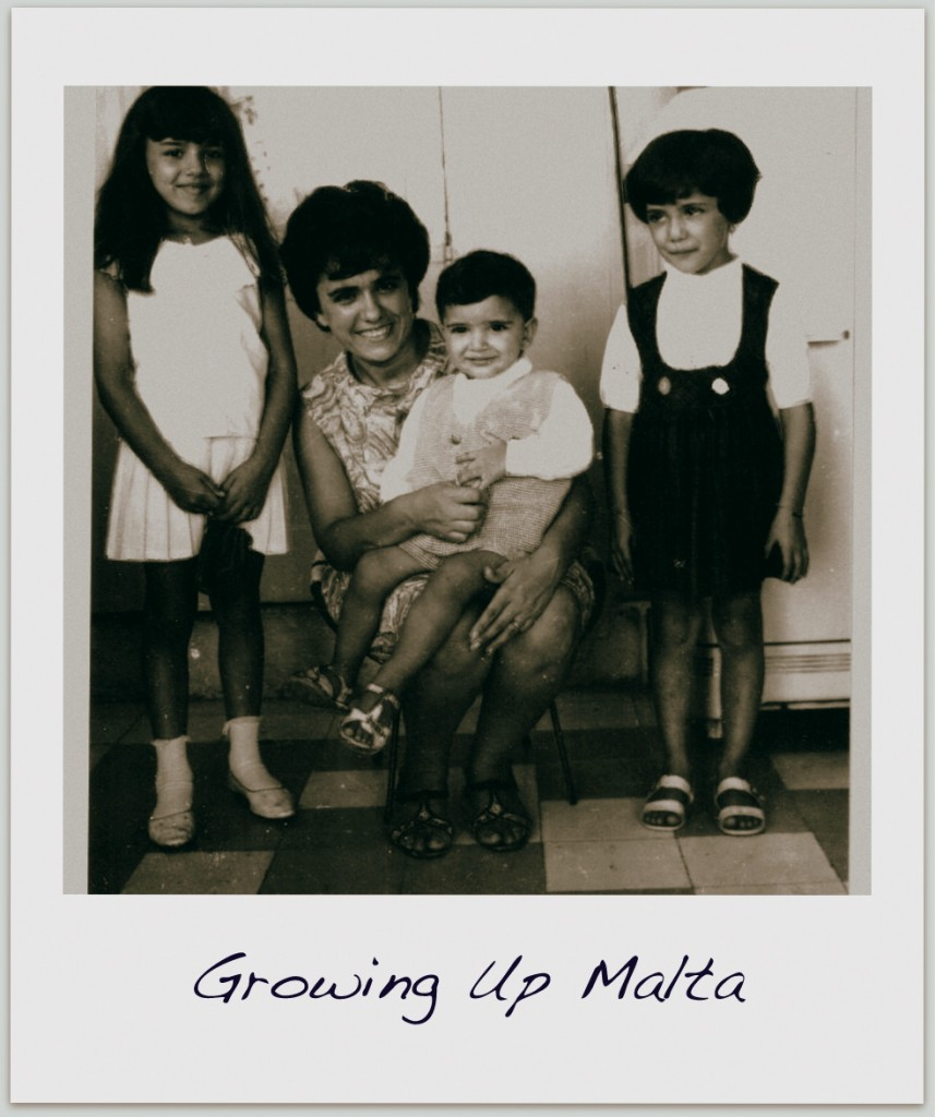 This is me with my family growing up in Malta.