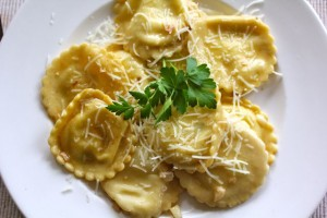 Chevre Filled Ravioli