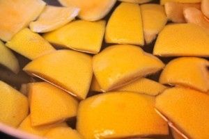 Boiled Grapefruit Rinds