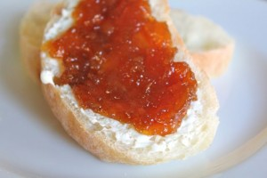 Bread with Butter and Grapefruit Marmalade